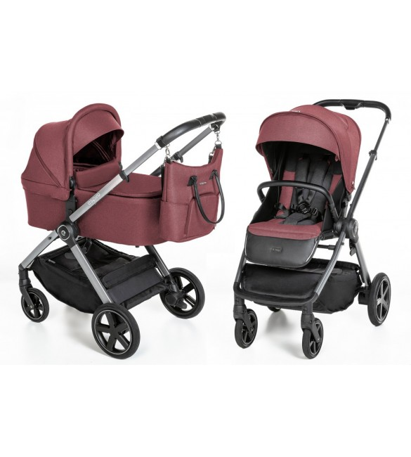 Carucior multifunctional 2 in 1 Espiro Only, Maroon Holiday