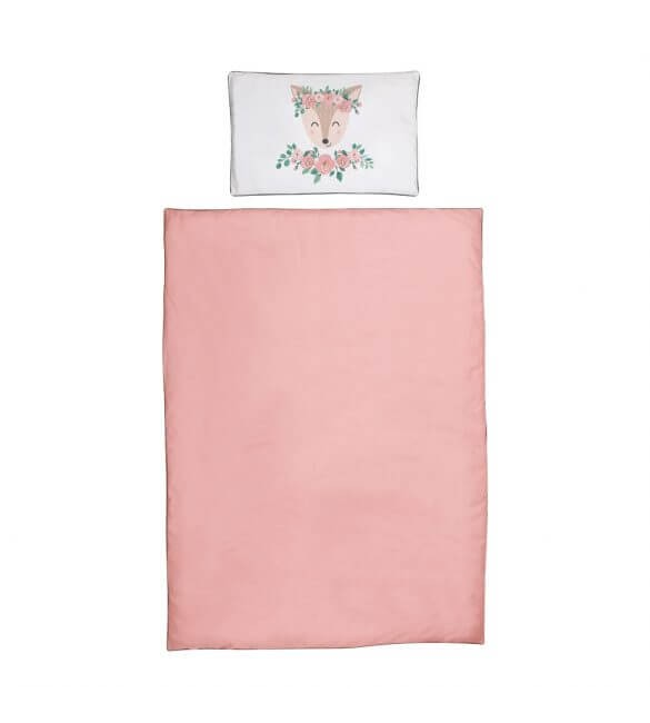 Set lenjerie Albero Mio Nature & Love 2 piese 135x100 cm, Rose