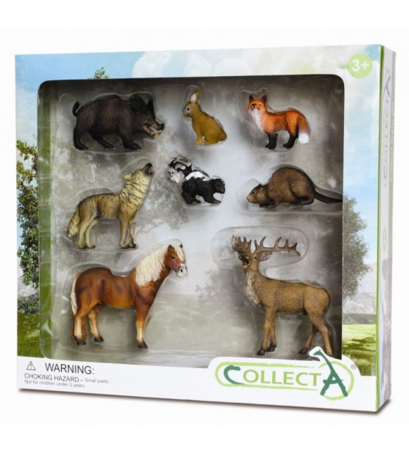 Set 8 figurine Animale din padure - Collecta
