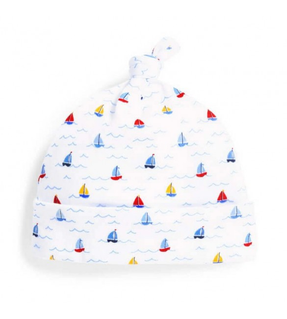 Caciulita Nautical White Jojo Maman Bebe