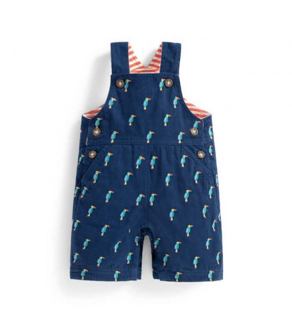 Salopeta Embroidered Toucan Navy Jojo Maman Bebe