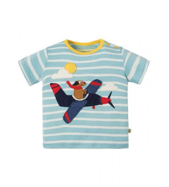 Tricou Atlantic Applique, Frugi