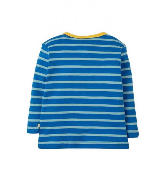 Bluza Bobby Applique Sail Blue Multi Breton Puffin, Frugi