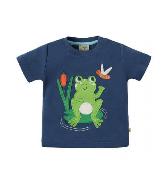 Tricou Little Creature Applique Frog, Frugi