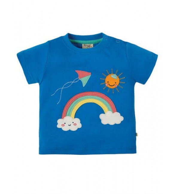 Tricou Little Creature Applique Rainbow, Frugi