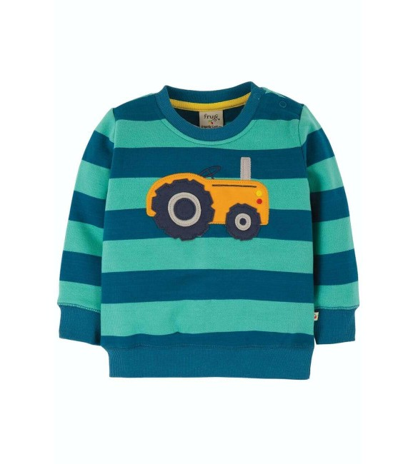 Pulover Tractor, Baieti, Multicolor, Bumbac Organic, Frugi