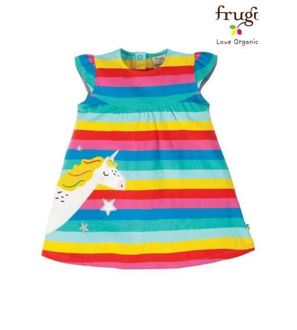 Rochita Unicorn, Bumbac Organic, Multicolor, Frugi