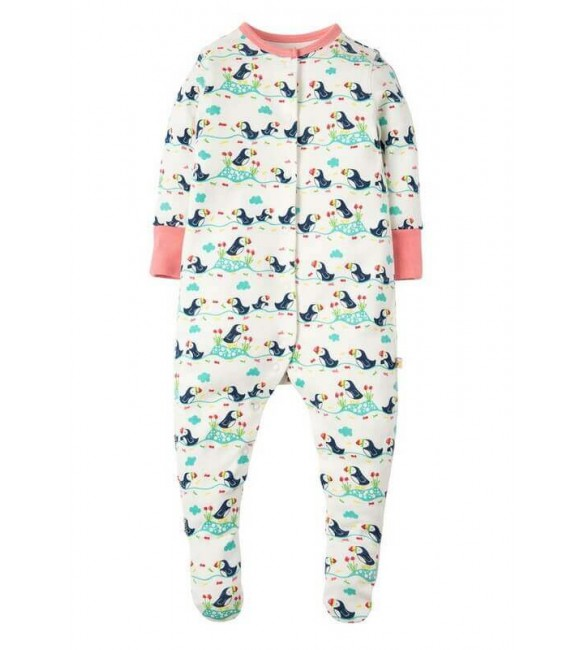 Salopeta Soft White Puffin Parade, Frugi