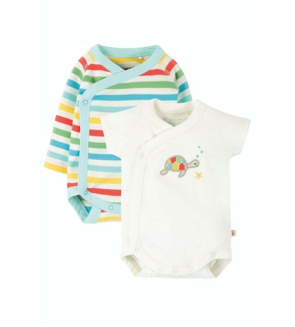 Set 2 Body-uri, Shay, Multicolor, Bumbac Organic, Frugi