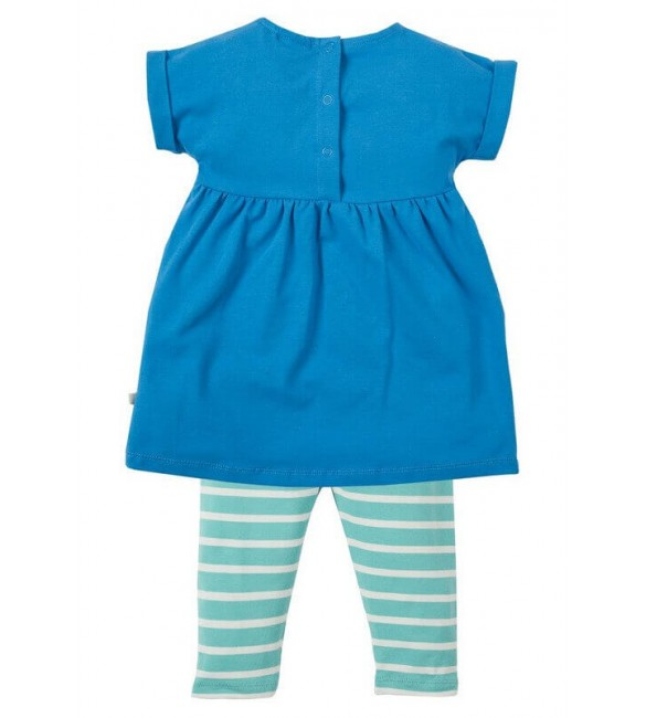 Set 2 Piese Olive Sail Blue Clouds, Frugi