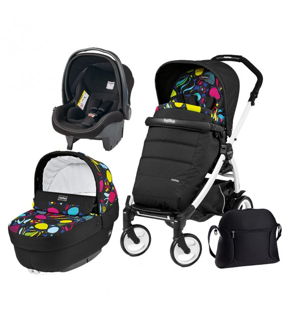 Carucior 3 In 1 Peg Perego Book Plus 51 Black&White Completo Elite