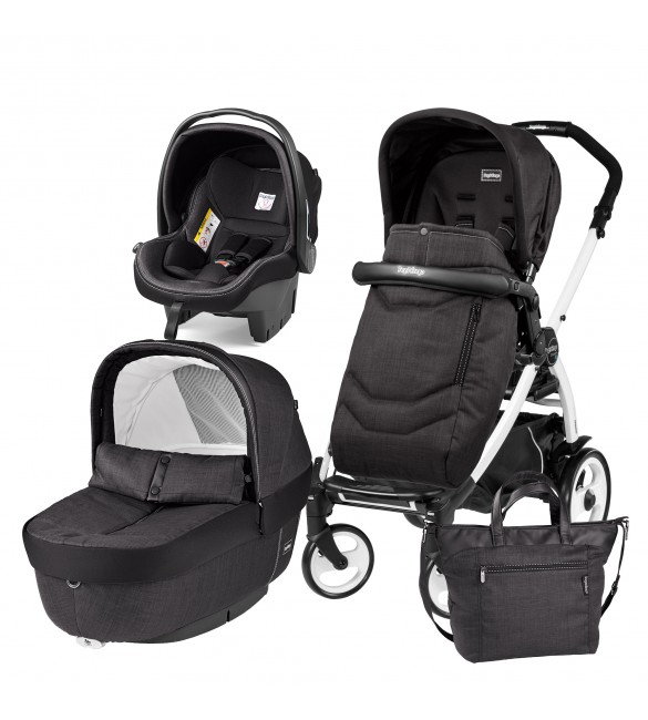 Carucior 3 In 1, Peg Perego, Book Plus 51, Black&White, Team