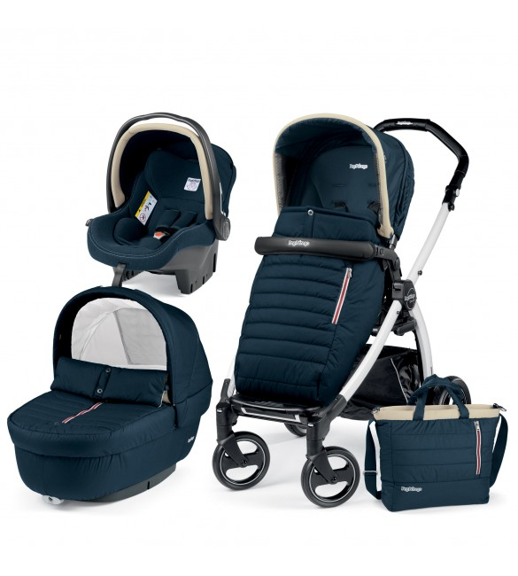 Carucior 3 In 1, Peg Perego, Book Plus S, Black&White, Breeze