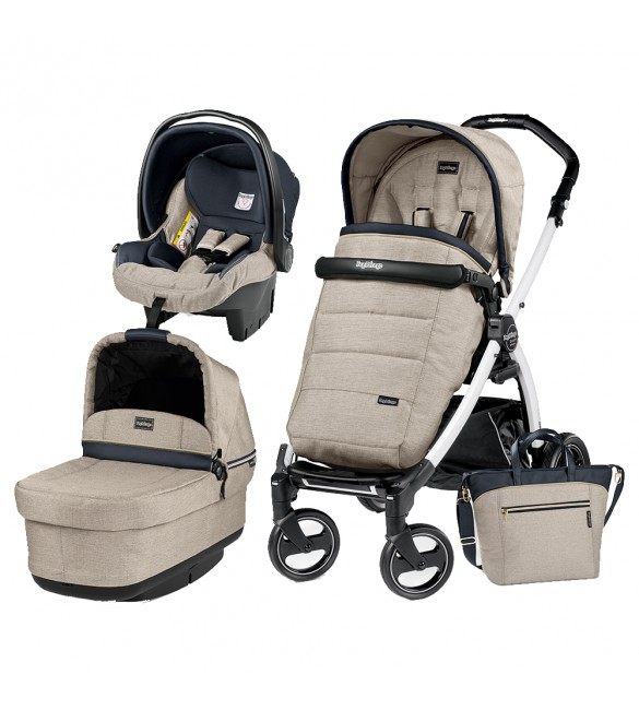Carucior 3 In 1, Peg Perego, Book Plus S, Black&White, POP-UP Elite