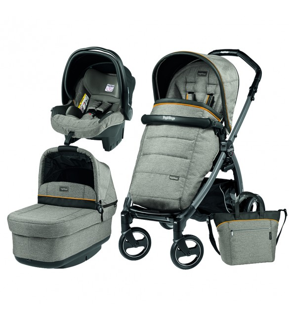 Carucior 3 In 1, Peg Perego, Book Plus S, Black, POP-UP Elite