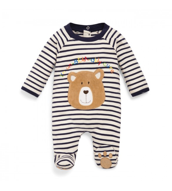 Salopeta Striped Bear Jojo Maman Bebe