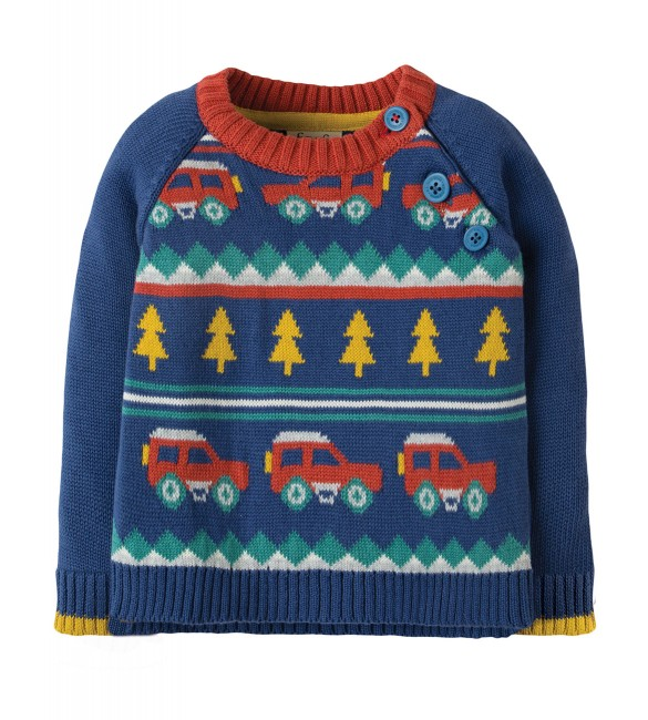 Pulover Little Finn Fairisle  Frugi