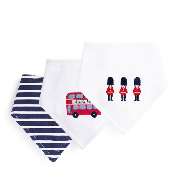 Set Bavete London 3 bucati  Jojo Maman Bebe