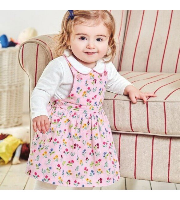 Set 2 Piese Rochita si Body Botanical Pinafore Jojo Maman Bebe