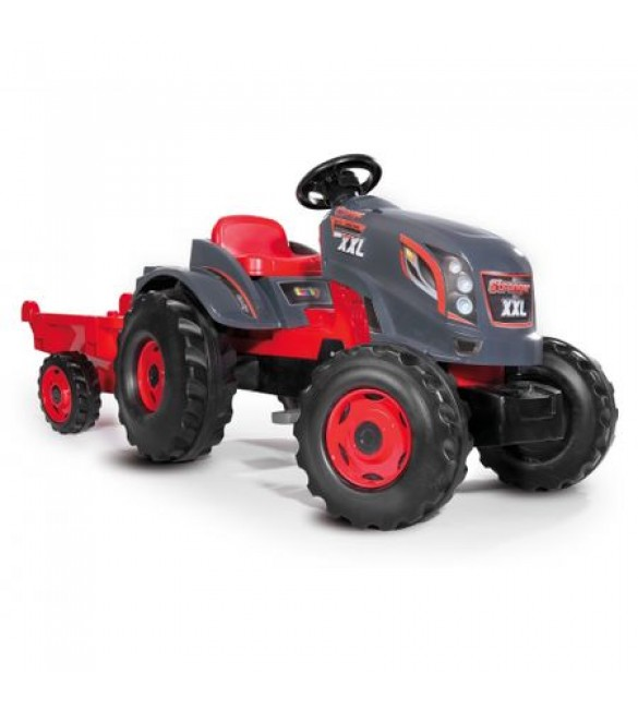 Tractor cu Pedale si Remorca Stronger XXL Smoby