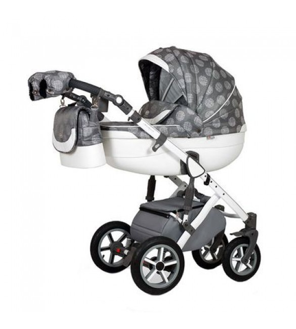Carucior 3 in 1 Contempo White Grey Krausman