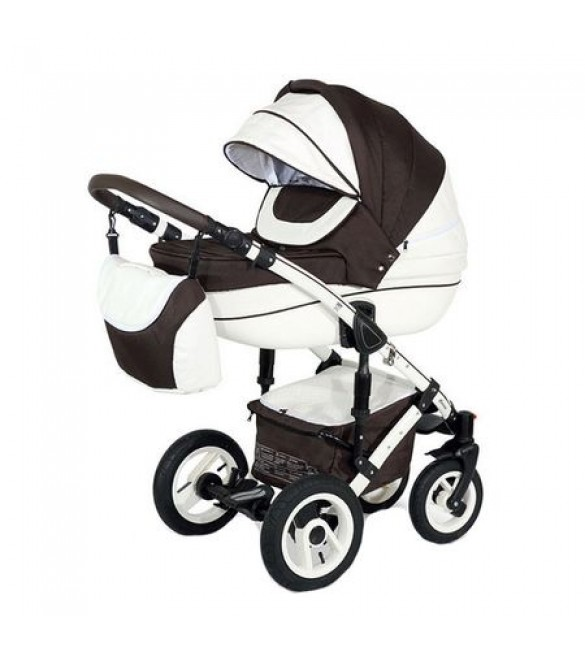 Carucior 3 in 1 Sendo White Brown Krausman