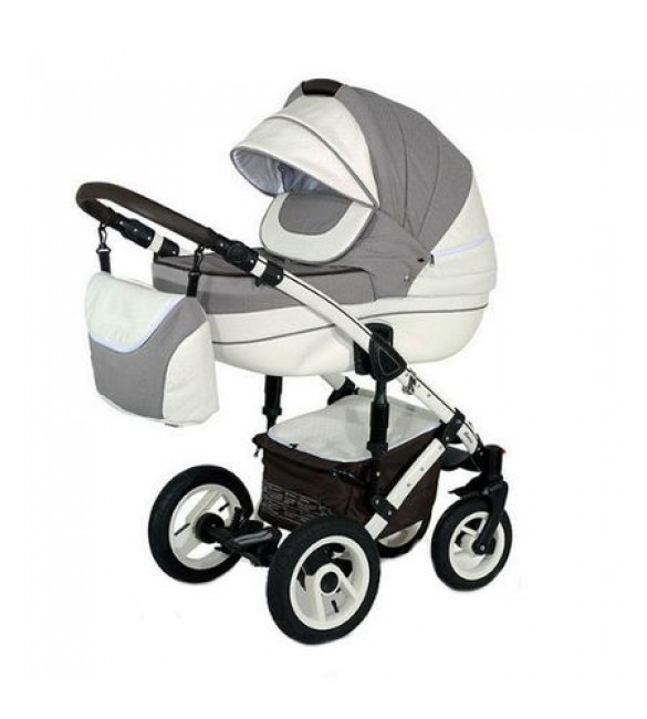 Carucior 3 in1 Sendo White Light Brown Krausman