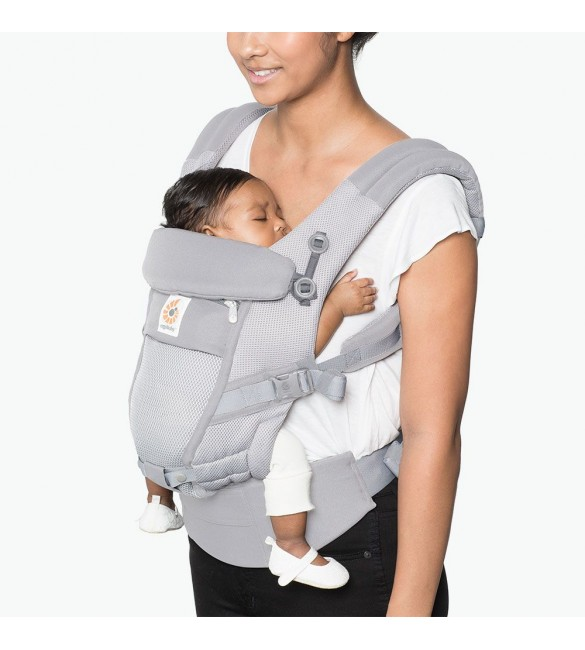 Marsupiu Adapt Cool Air Mesh Pearl Grey, Ergobaby